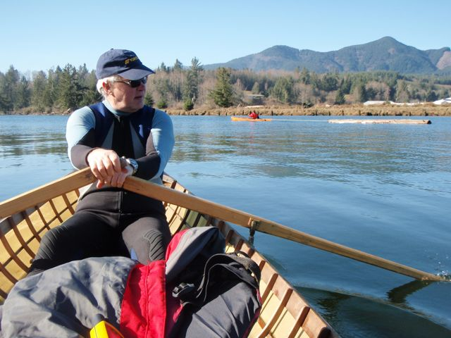 Ricardo in a skin-on-frame Adirondack guide boat, built by Brian Schulz.