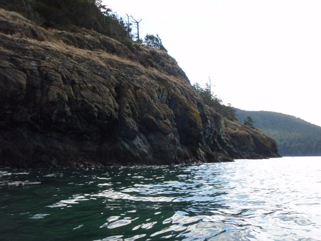 Cliffs just south of Green Point at Washington Park in Anacortes