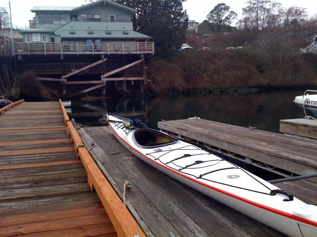 Kayak dock at Friday Harbor Marina.
