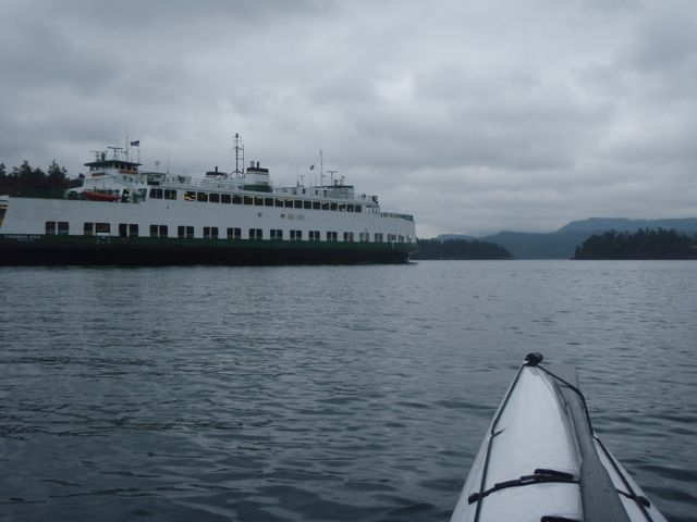 Ferry in Wasp Passage.