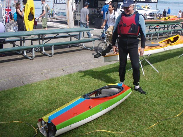 Sterling Kayaks adjustable cockpit, made for sizing custom kayaks.
