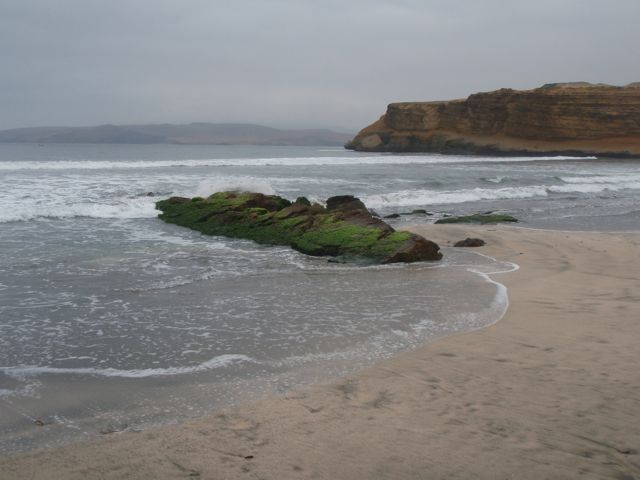 The desolate coast at Paracas.