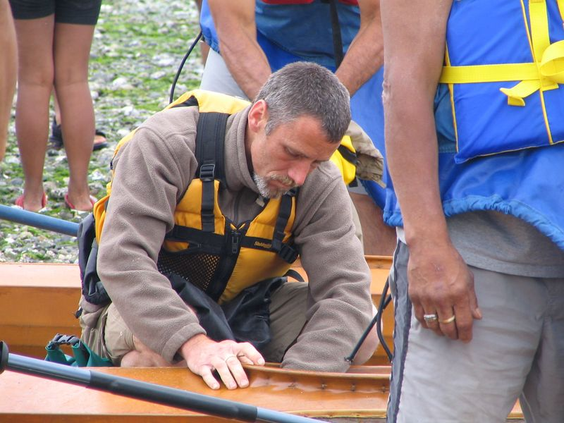 Traditional kayak builder Marc Daniels at Triibal Journey 2006