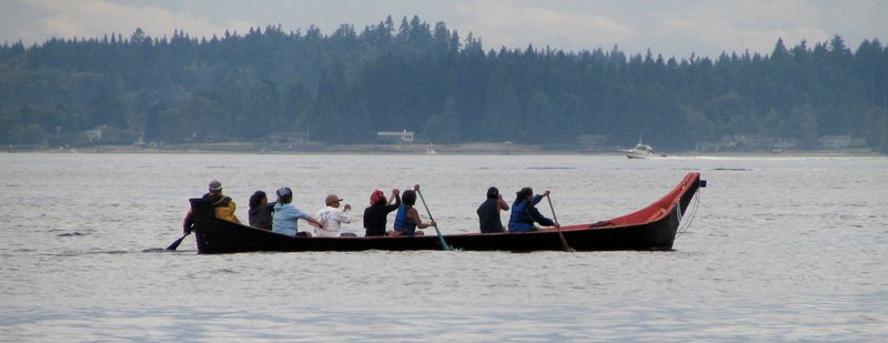 Traditional Salish Canoe at Tribal Journey 2006