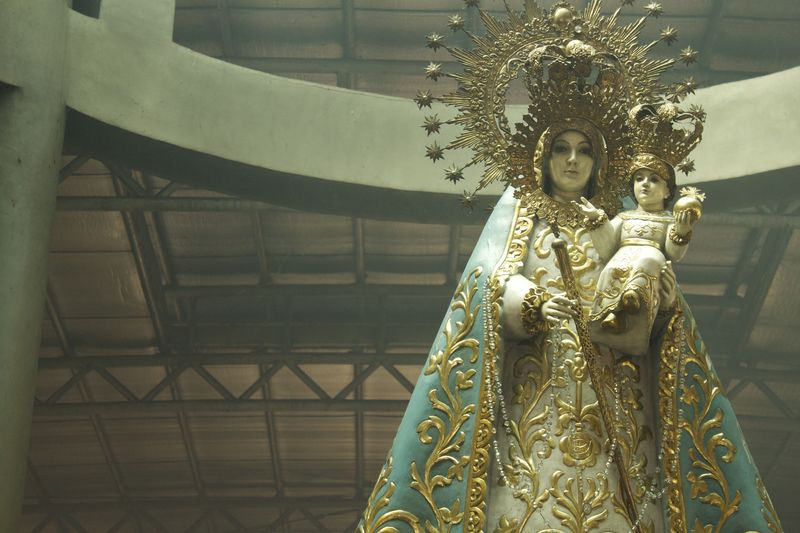 Replica of Our Lady of Manaoag, in the Candle Gallery.