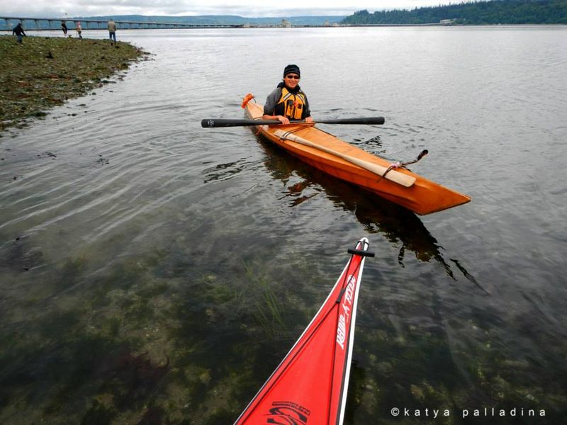 Kayaking at the entrance to Hood Canal