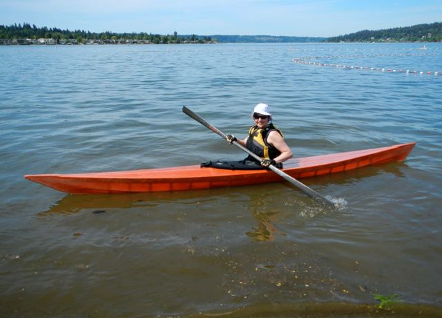 Maiden voyage on Lake Sammamish. Photo copyright Andrew Elizaga.