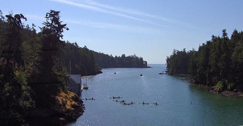 Looking south down Pedder Bay. Photo copyright Andrew Elizaga