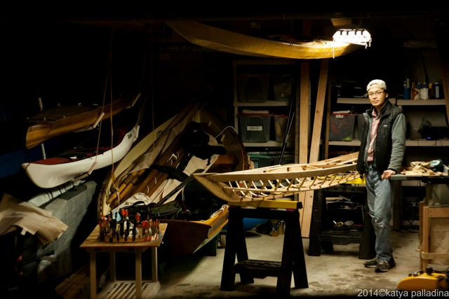 The boathouse workshop. Photo copyright Katya Palladina
