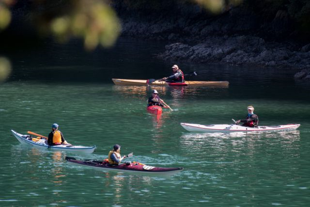 On the water classes in the protected inlet. Photo copyright Katya Palladina