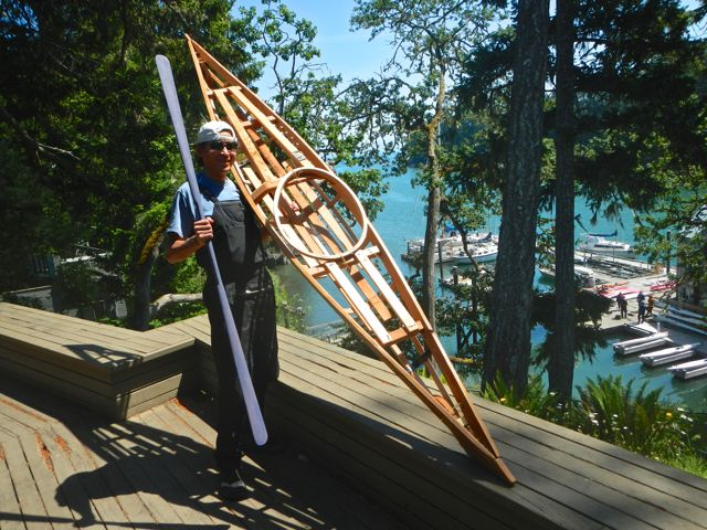 A kid's kayak frame, by kayak builder Gerhart Raven. Photo copyright Katya Palladina.