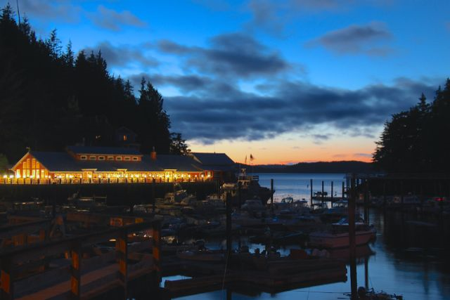 Night at Telegraph Cove Resort.