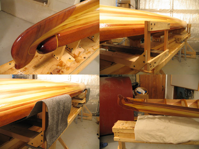 Building the cedar strip Shooting Star baidarka. Photo Copyright ©2006 Andrew Elizaga