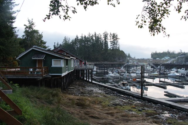 Historic buildings on the boardwalk at Telegraph Cove Resort