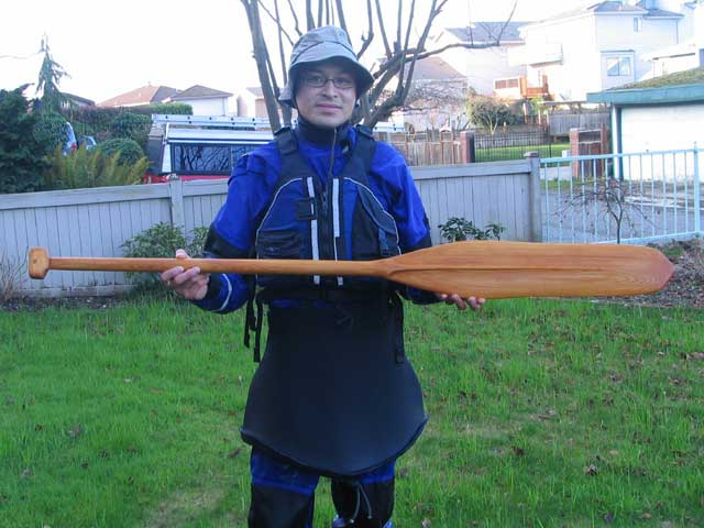 King Island paddle replica. Photo Copyright ©2006 Andrew Elizaga